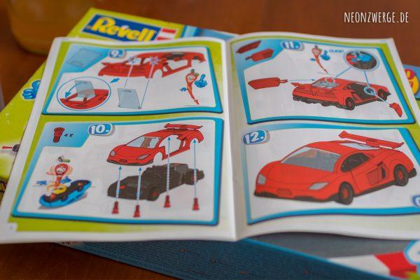 Revell Junior Kit - Modellbausatz Kinder Rennauto Racecar Anleitung