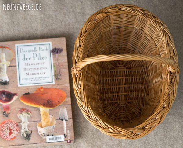 Pilzkorb - Korb Pilze sammeln - Mit Kindern im Herbst Wald